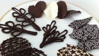 how to make chocolate garnishes decorations tutorial PART 2 how to cook that ann reardon