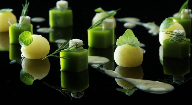 Squaring the Pea - peas, feta cheese, potatoes and dill, Chefs Georgianna Hiliadaki and Nikos Roussos