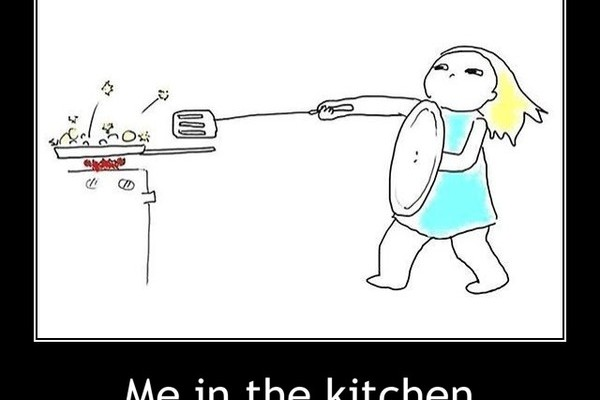 Me in the kitchen......