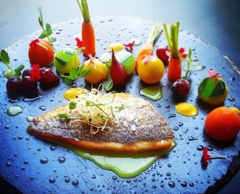 Mediterranean Sea Bream & Season Vegetables.