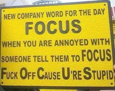 New company word FOCUS