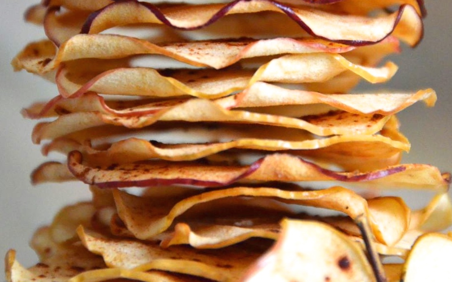 Clear Pink Lady Apple Chips