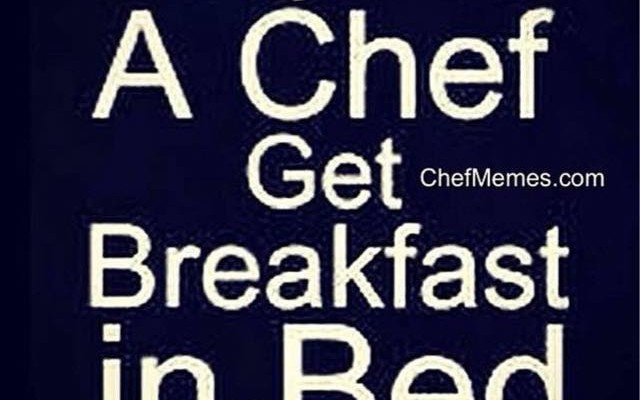 Sleep with a chef!