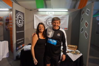 Peter Beardsley, The Legend with The Chef House team, RWC Fanzone Newcastle