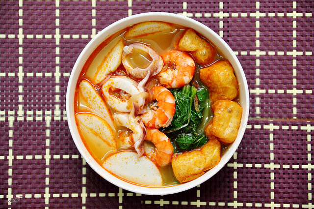Tom Yum Seafood Noodle Soup